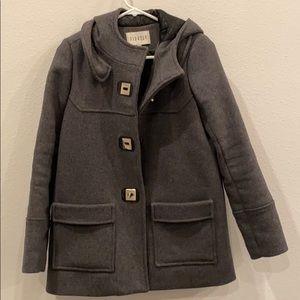 Grey wool coat with hood claudiepierlot